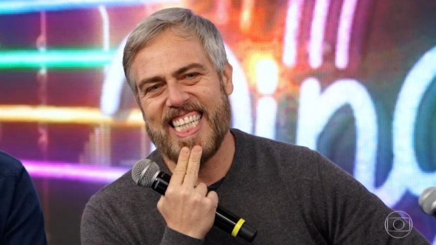 O ator Anderson Muller participa do Ding Dong, no Domingão do Faustão - Reprodução/TV Globo