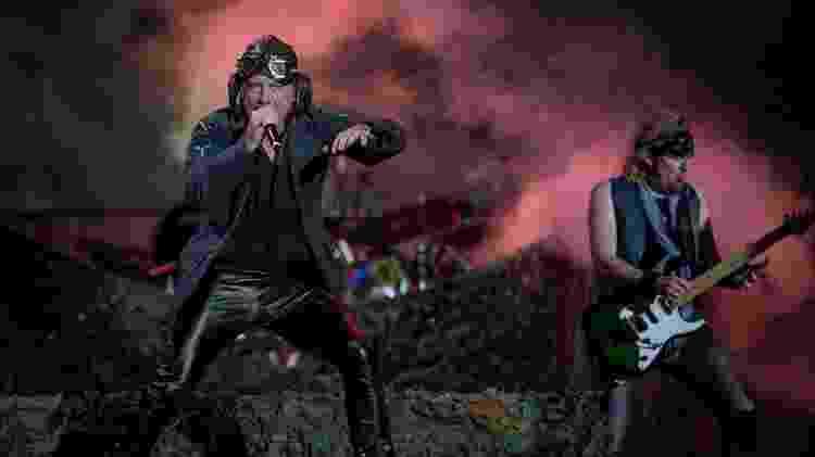 Show da banda Iron Maiden no palco Mundo do Rock in Rio, em 2019 - Eduardo Anizelli/Folhapress - Eduardo Anizelli/Folhapress