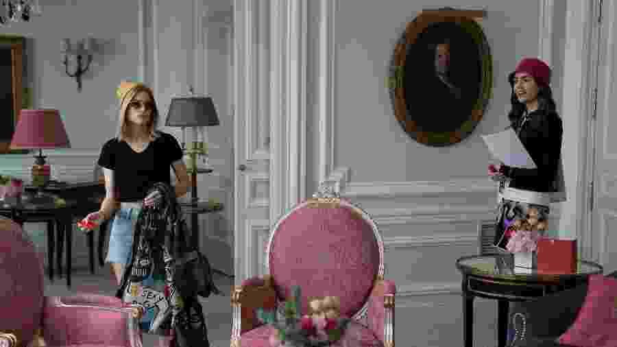 """Cena de """"Emily in Paris"""" - STEPHANIE BRANCHU/NETFLIX"""