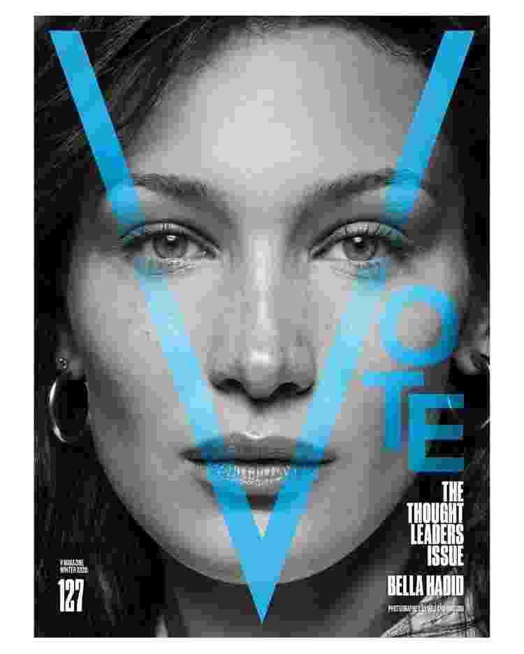 """Bella Hadid para a revista norte-americana """"V Magazine"""" - Reprodução - Reprodução"""