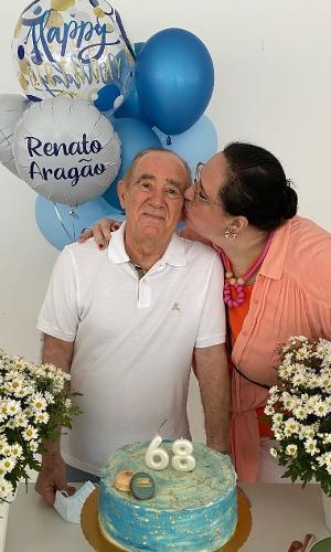 Renato Aragão e sua esposa Lilian