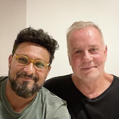 Adriano Medeiros e o marido, Luiz Fernando Guimarães - Reprodução/Instagram