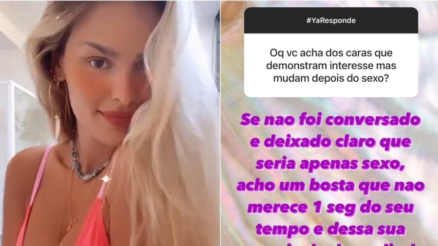 Yasmin Brunet dá conselho a seguidora no Instagram - Reprodução/Instagram