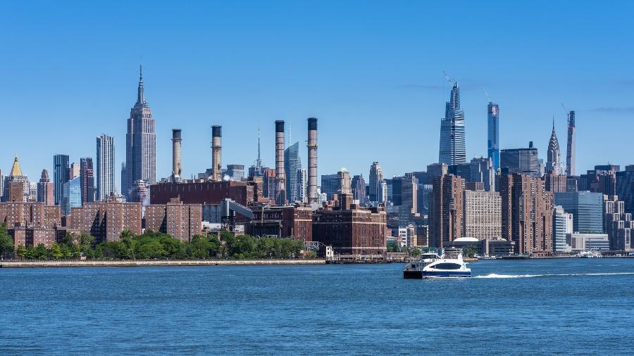 East River e Manhattan, em Nova York - Getty Images