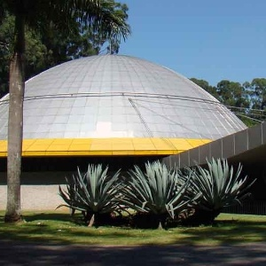 Fachada do Planetário do parque do Ibirapuera