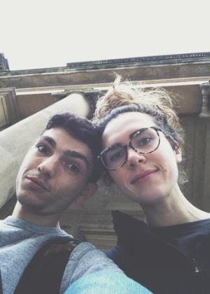 Dimo Trifonov e a parceira, Ana Kirova, que o inspirou a lançar o aplicativo 3nder - Arquivo pessoal