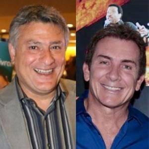 Cleber Machado e Murilo Fraga se enfrentam em jogo de emissoras - Divulgação