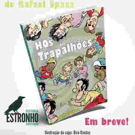 """Capa do livro """"HQs dos Trapalhões"""" - Divulgação - Divulgação"""