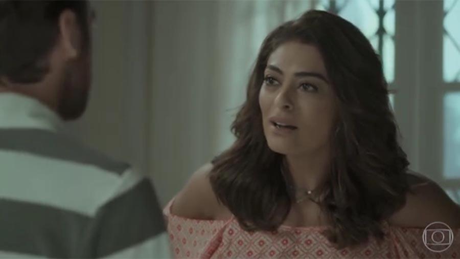 Bibi (Juliana Paes) vai se desesperar com prisão de Rubinho (Emílio Dantas) - Reprodução/Globo
