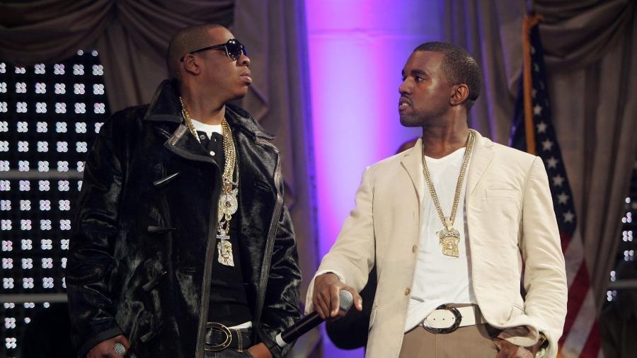 Os rappers Jay Z e Kanye West não estão se entendendo - Divulgação