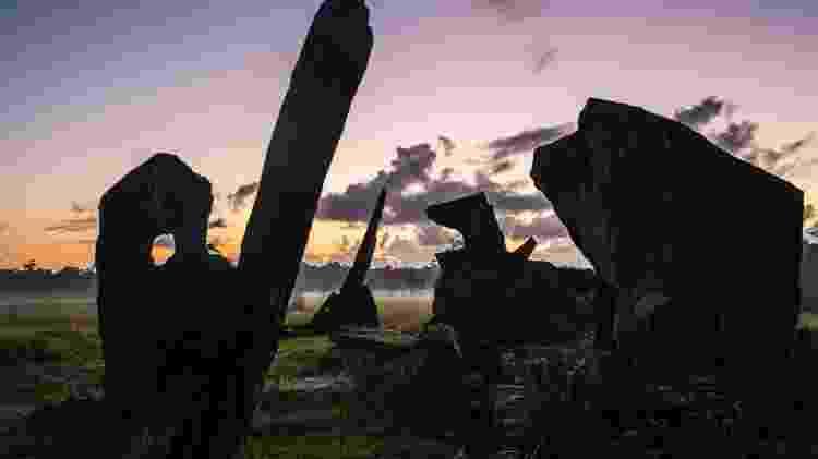 """""""Stonehenge"""" brasileira no Estado do Amapá, perto de Calçoene  - Dado Galdieri/The New York Times - Dado Galdieri/The New York Times"""