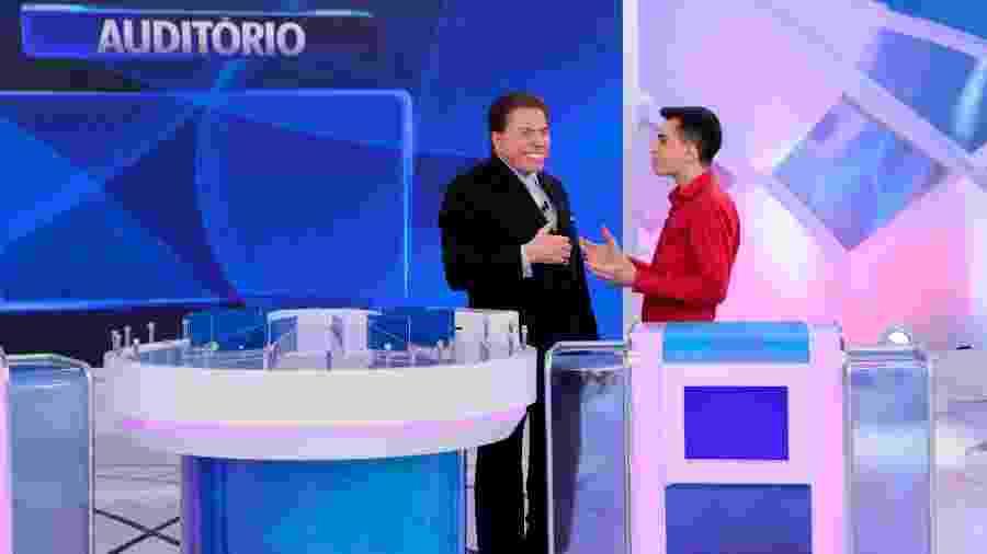 """Silvio Santos recebe Dudu Camargo em seu programa e dispara: """"Ele anda muito enxerido"""" - Lourival Ribeiro/SBT"""