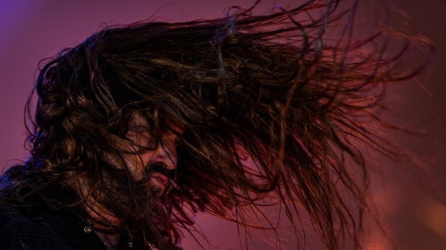 Show da banda Sepultura, no palco Sunset, no quarto dia do segundo final de semana do Festival Rock in Rio, no Rio de Janeiro. - Eduardo Anizelli/Folhapress