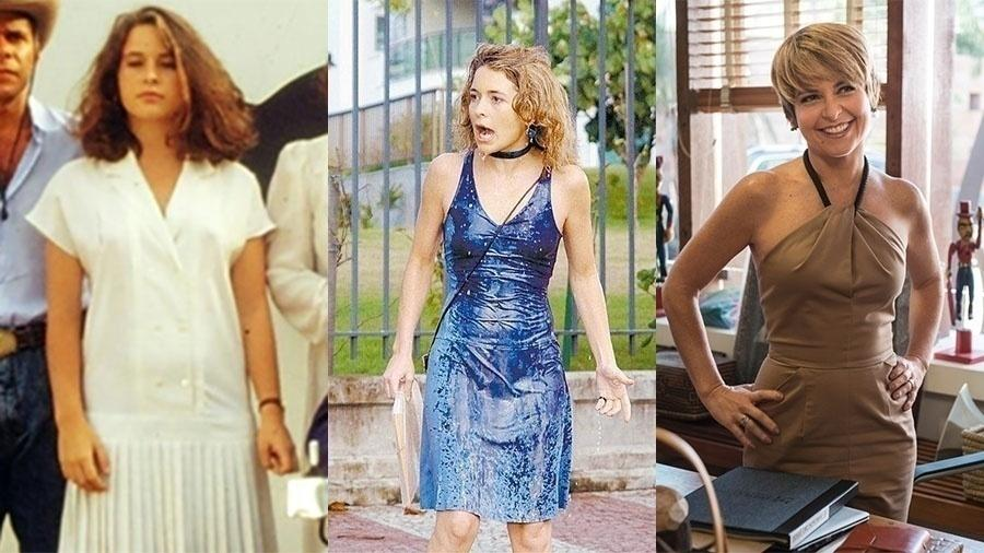 """Cláudia Abreu também esteve em """"Fera Radical"""", ela tinha apenas 18 anos. A vilã (também conhecida como cachorra) Laura de """"Celebridade"""" quase eclipsou a importância da mocinha. Em 2016, ela esteve no ar na novela """"A Lei do Amor"""""""