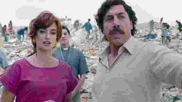 """Penélope Cruz e Javier Bardem no filme espanhol """"Amando Pablo"""" - Reprodução - Reprodução"""