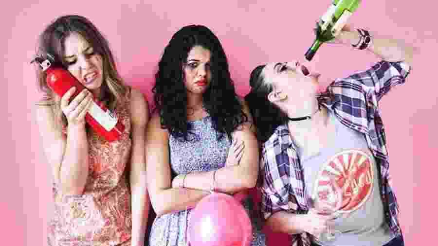 """Sarah Alò, Flavia Borges e Devon Carson, criadoras da série para o Instagram """"Menace"""" - Reprodução/Instagram/@menaceseries"""