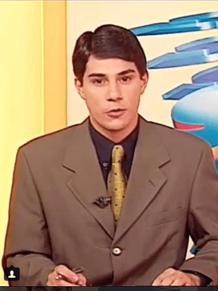 Evaristo Costa novinho em foto antiga - Reprodução/Instagram