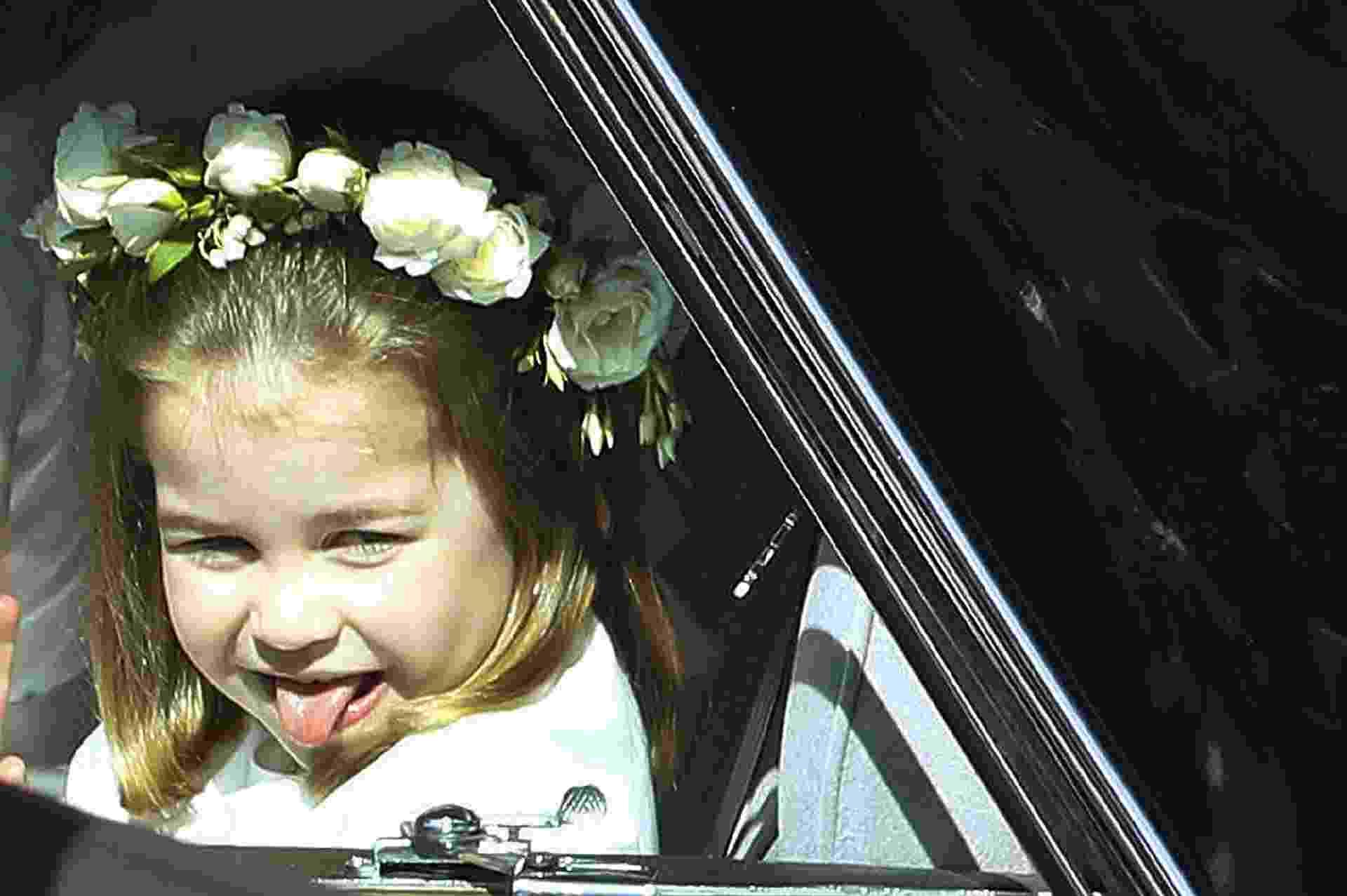 A princesa Charlotte já chegou mostrando a língua pros súditos - Getty Images