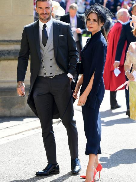 David e Victoria Beckham no casamento do príncipe Harry e de Meghan, duquesa de Sussex - Getty Images
