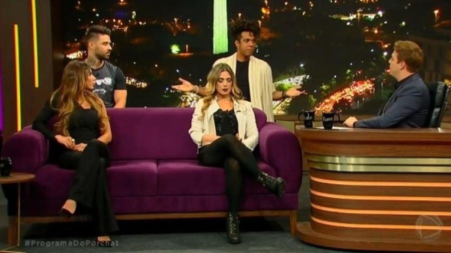 """Nadja Pessoa e Thais Bianca discutem no """"Programa do Porchat"""" - Reprodução/Record"""