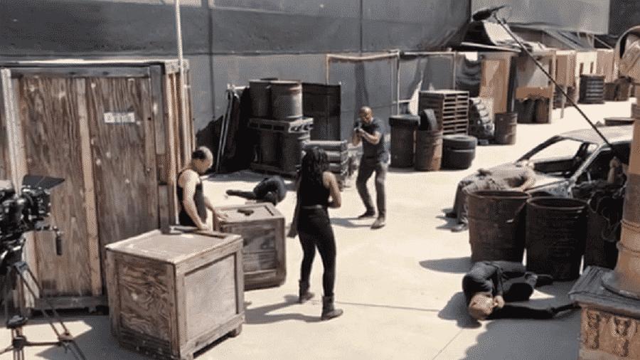 """Anderson Silva roda cena do filme """"Extreme Force Operations"""" - Reprodução/Instagram"""