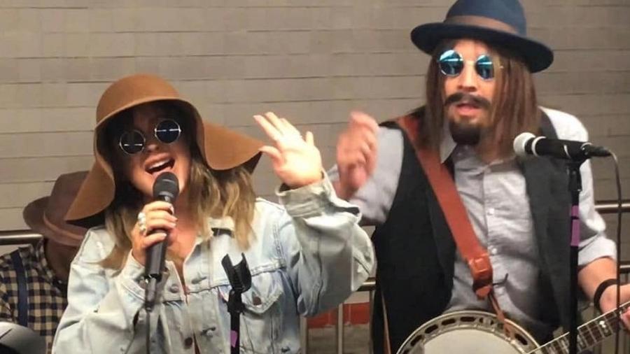 Christina Aguilera e Jimmy Fallon - Reprodução