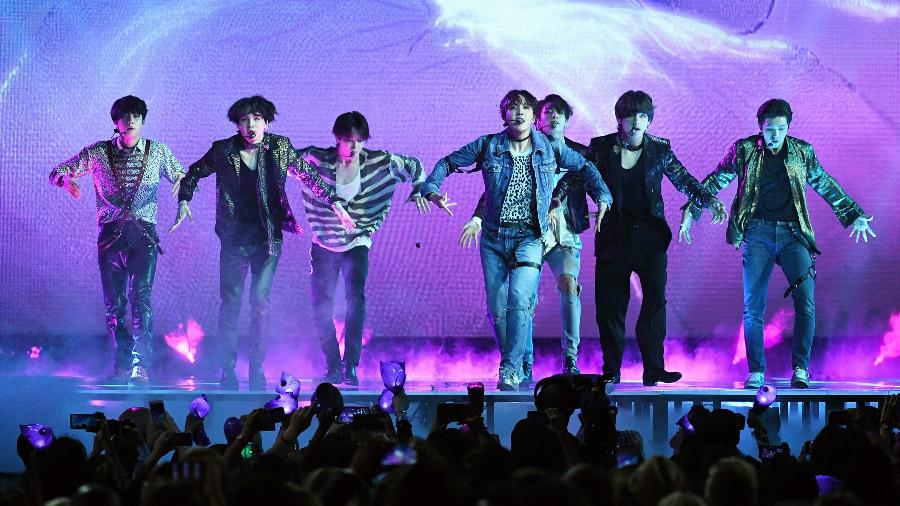 O grupo coreano BTS - Ethan Miller/Getty Images