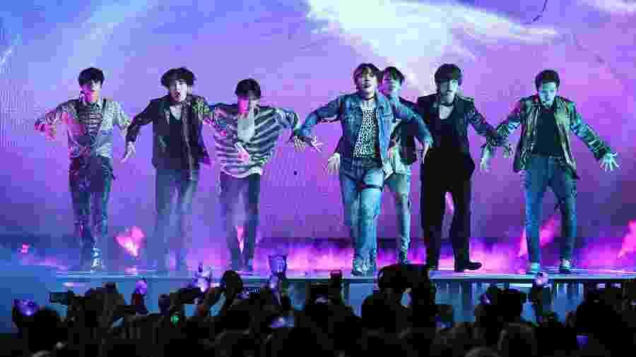 O grupo coreano BTS - Ethan Miller/Getty Images
