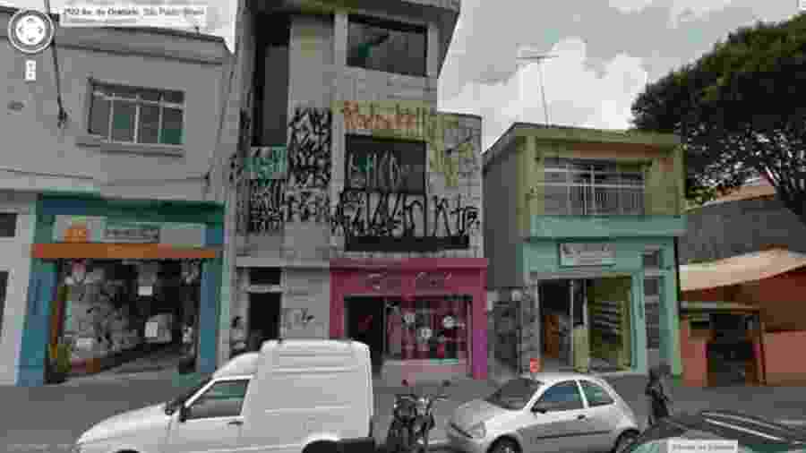 Imagem via Google Maps do endereço da sex shop citada no panfleto - Reprodução/Twitter