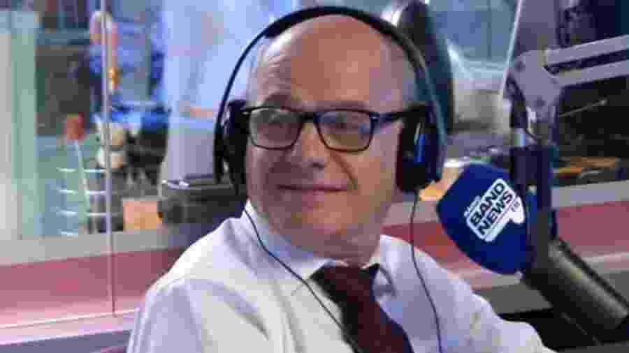 O apresentador Ricardo Boechat na BandNews FM - Reprodução/YouTube/BandNewsFM