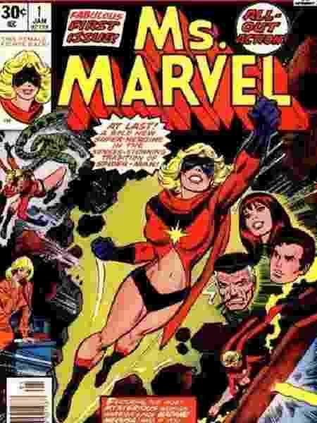 A primeira aparição de Carol Danvers como Ms. Marvel, em 1977 - Reprodução/Twitter - Reprodução/Twitter