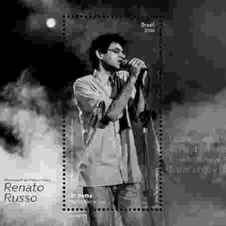 Selo em homenagem ao cantor e compositor Renato Russo - Divulgação/Correios