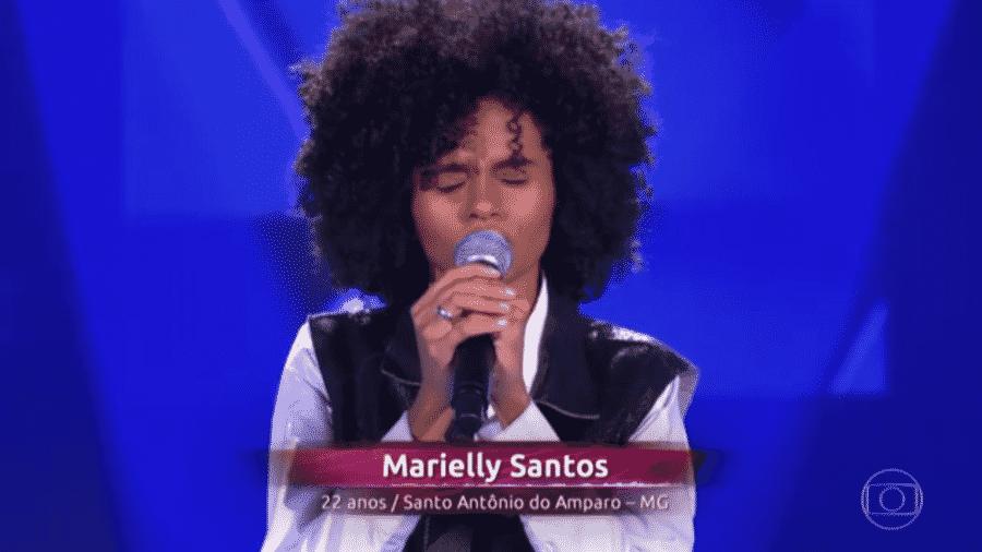 Participante Marielly Santos, do The Voice Brasil - reprodução/TV Globo