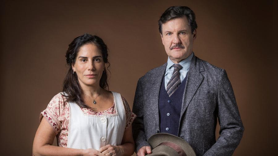 Gloria Pires e Antonio Calloni como Lola e Júlio em Éramos Seis - Globo/Raquel Cunha