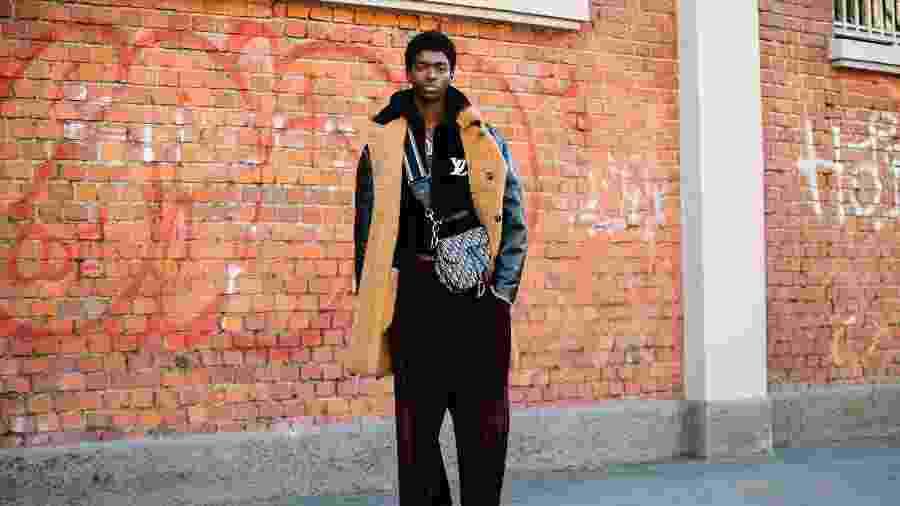 Modelo na Semana de Moda de Milão na apresentação da coleção outono/inverno 2020 - Melodie Jeng/Getty Images