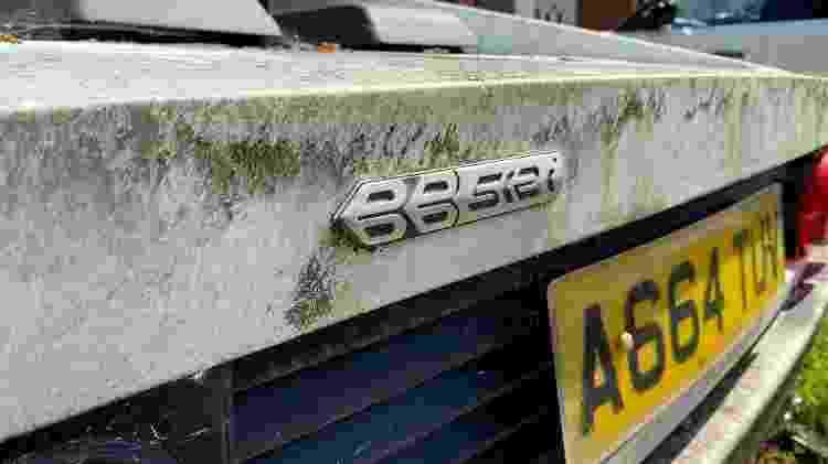 Caçador de Ferraris Scott Chivers Ferrari 512BBi 1983 rara apodrece em quintal na Inglaterra TRASEIRA LOGOTIPO - Arquivo pessoal - Arquivo pessoal