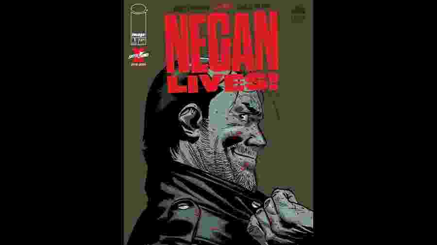 """Capa de Negan Lives!, edição especial de """"The Walking Dead"""" - Reprodução"""