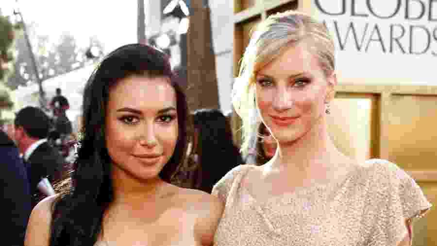Heather Morris (direita) posa com Naya Rivera - NBC/Getty Images