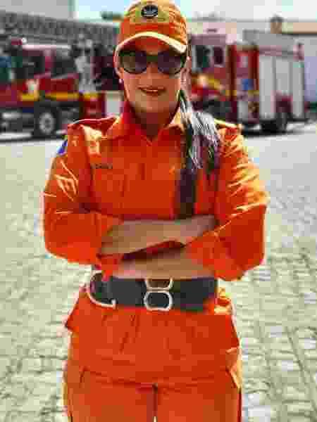 A tenente-coronel Camila Paiva - Reprodução/Instagram