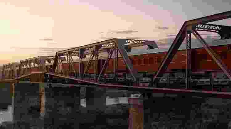 Hotel aproveita a estrutura de uma antiga linha de trem, até mesmo com os vagões da composição - Divulgação - Divulgação