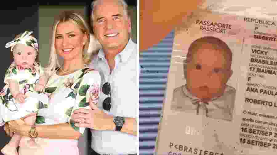Passaporte de Vicky, filha de Ana Paula Siebert e Roberto Justus - Reprodução/Instagram