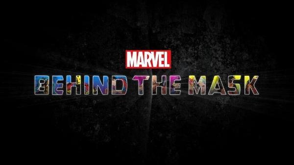 O logo de 'Behind the Mask', novo documentário da Marvel no Disney+