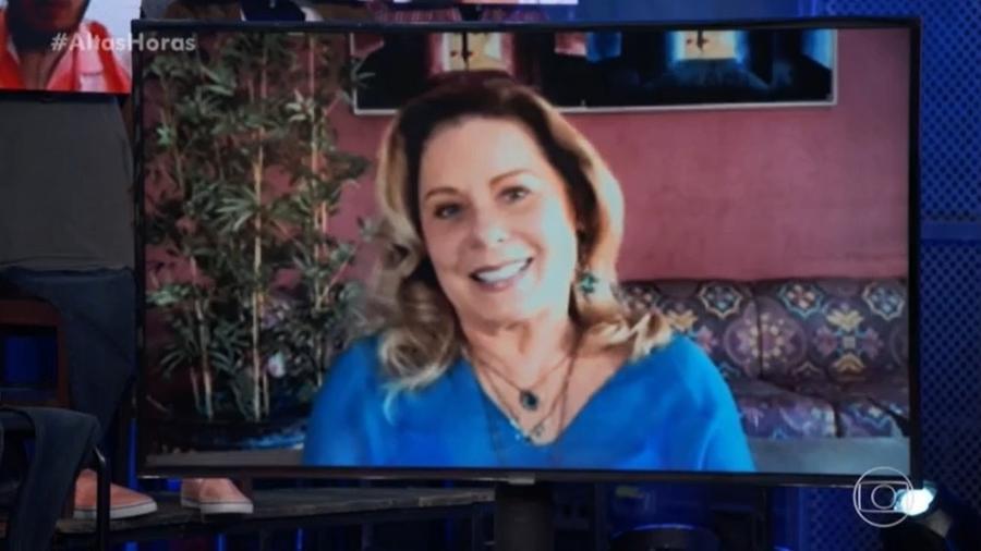 """Vera Fischer em participação no """"Altas Horas"""" (TV Globo) - Reprodução/TV Globo"""