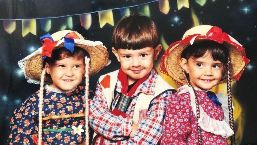 Fátima Bernardes relembra produção para festa junina na infância - Instagram