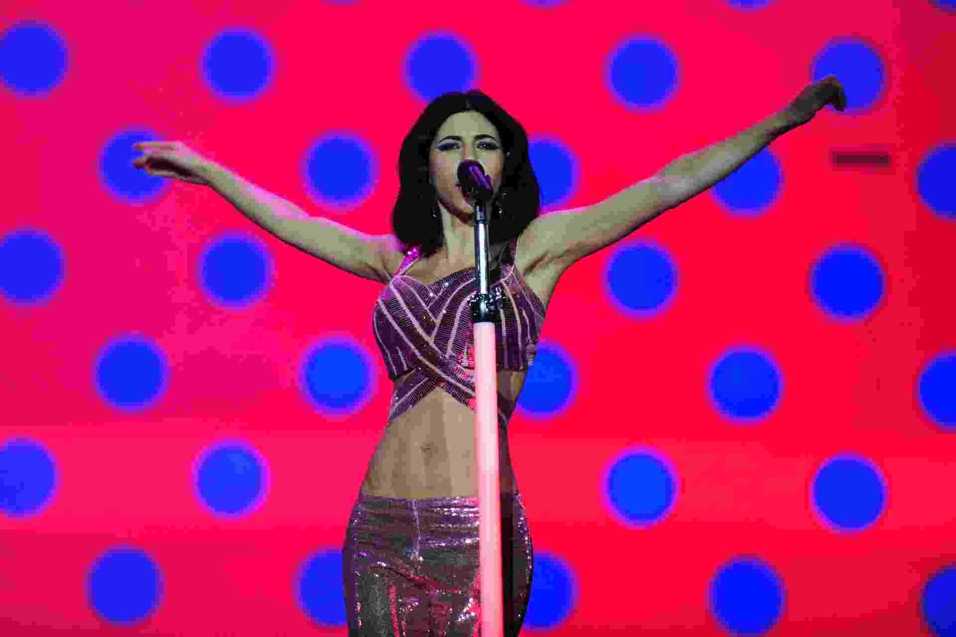 12.mar.2016 - Marina and the Diamonds se apresenta no Lollapalooza Brasil 2016, em São Paulo - Junior Lago/UOL