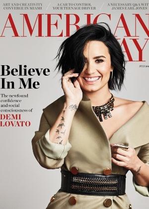 "Demi Lovato, capa da revista ""American Way"" - Reprodução/American Way"