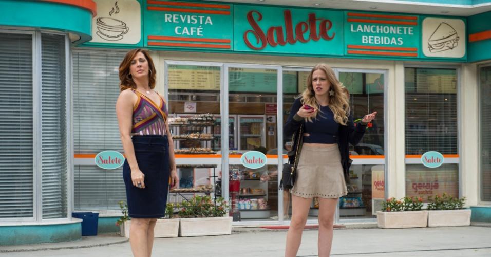 Salete (Claudia Raia) e Jéssica (Marcella Rica) em