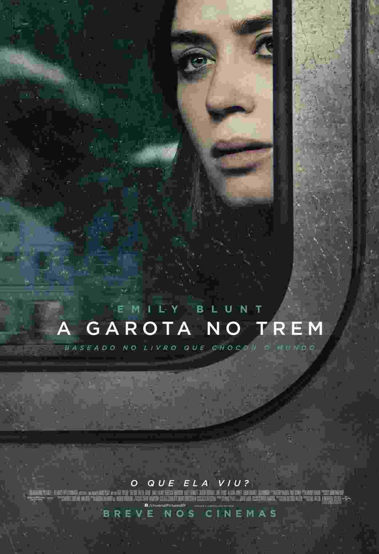 """Cartaz de """"A Garota no Trem"""", filme baseado no best-seller de Paula Hawkins que estreia no Brasil no dia 27 de outubro - Divulgação"""