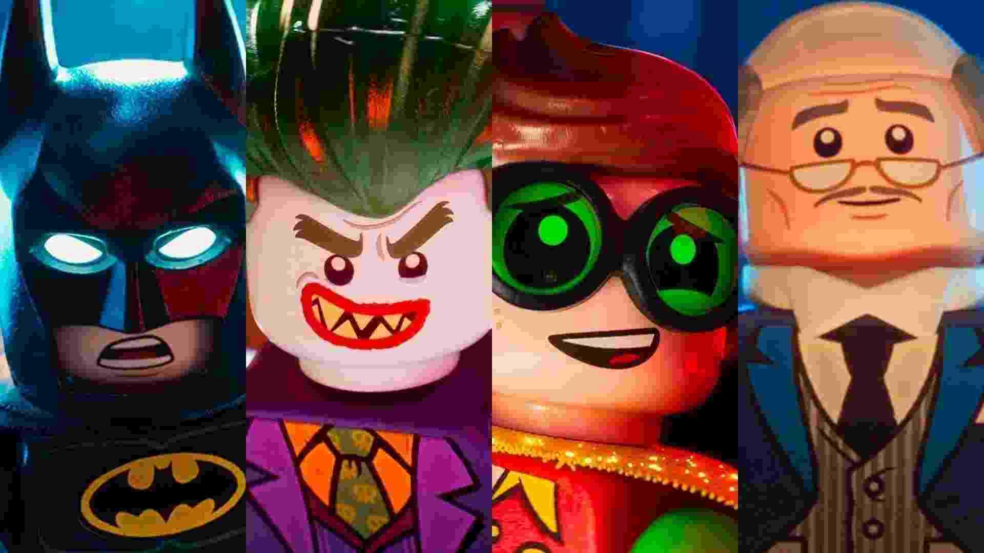 """Cenas do filme """"LEGO Batman: O Filme"""" (2017), de Chris McKay - Reprodução/Montagem"""