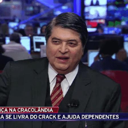 """Homem xinga Datena de """"merda"""" durante o """"Brasil Urgente"""" - Reprodução/TV Bandeirantes"""